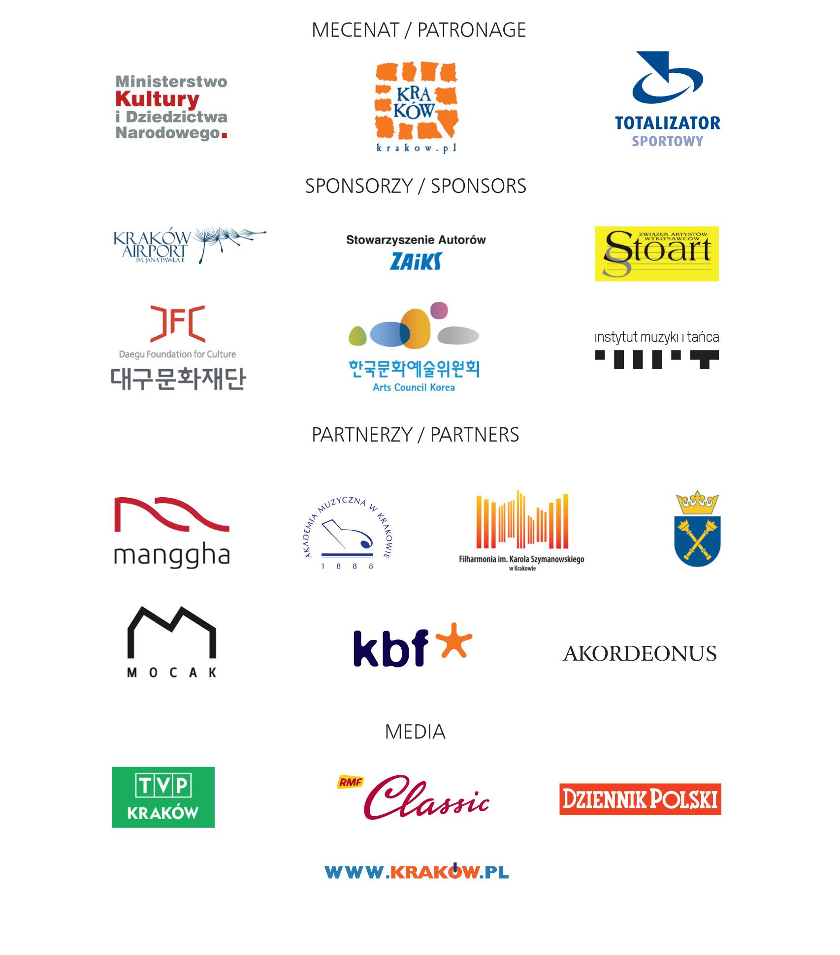 Logotypy sponsorów i partnerów